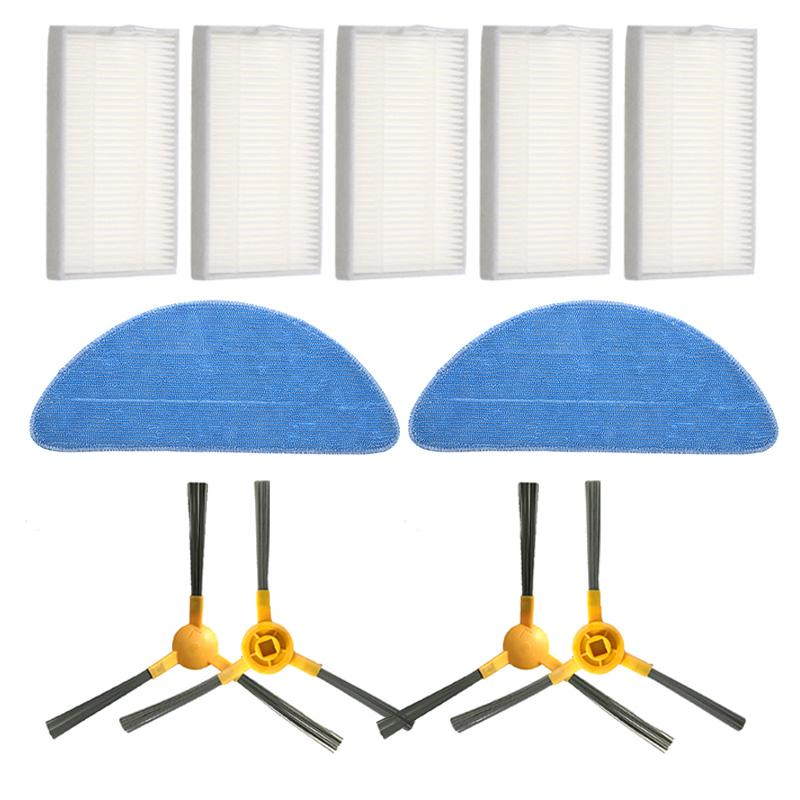 1*Side Brush HEPA Filter Mop Cloth Kit Replace for Proscenic 800T Vacuum Cleaner