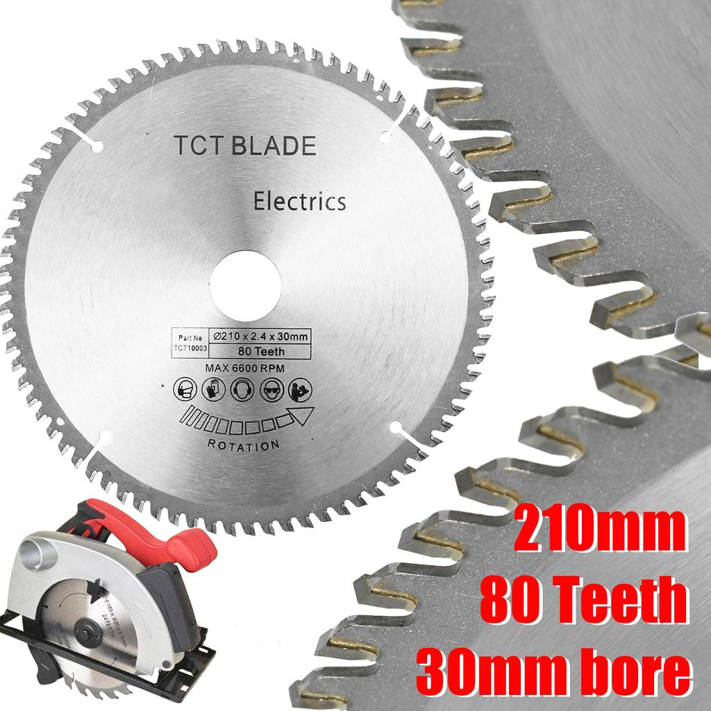 "3 x 210mm 8 1//4/"" TCT Circular Saw Blades 30mm Bore 16 /& 20 mm Reduction Rings"