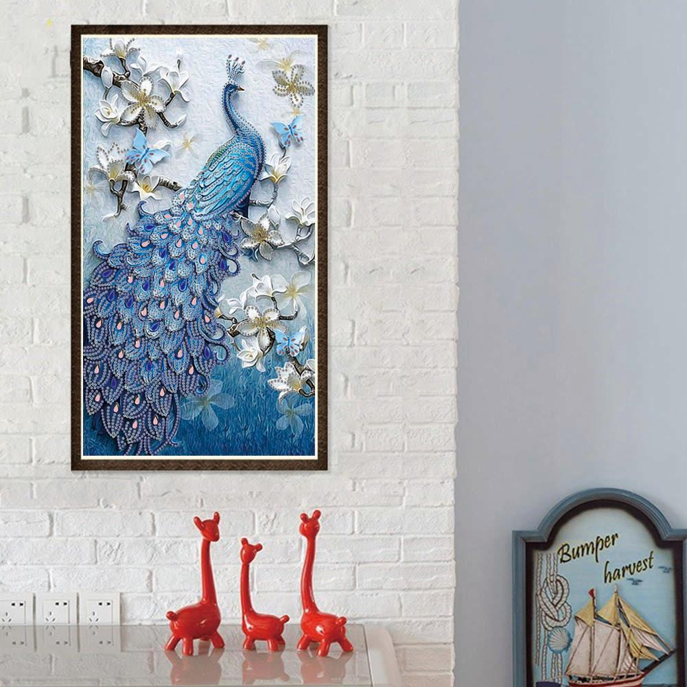 Peacock Special Shaped Diamond Painting DIY 5D Drill Cross Stitch Crystal  US