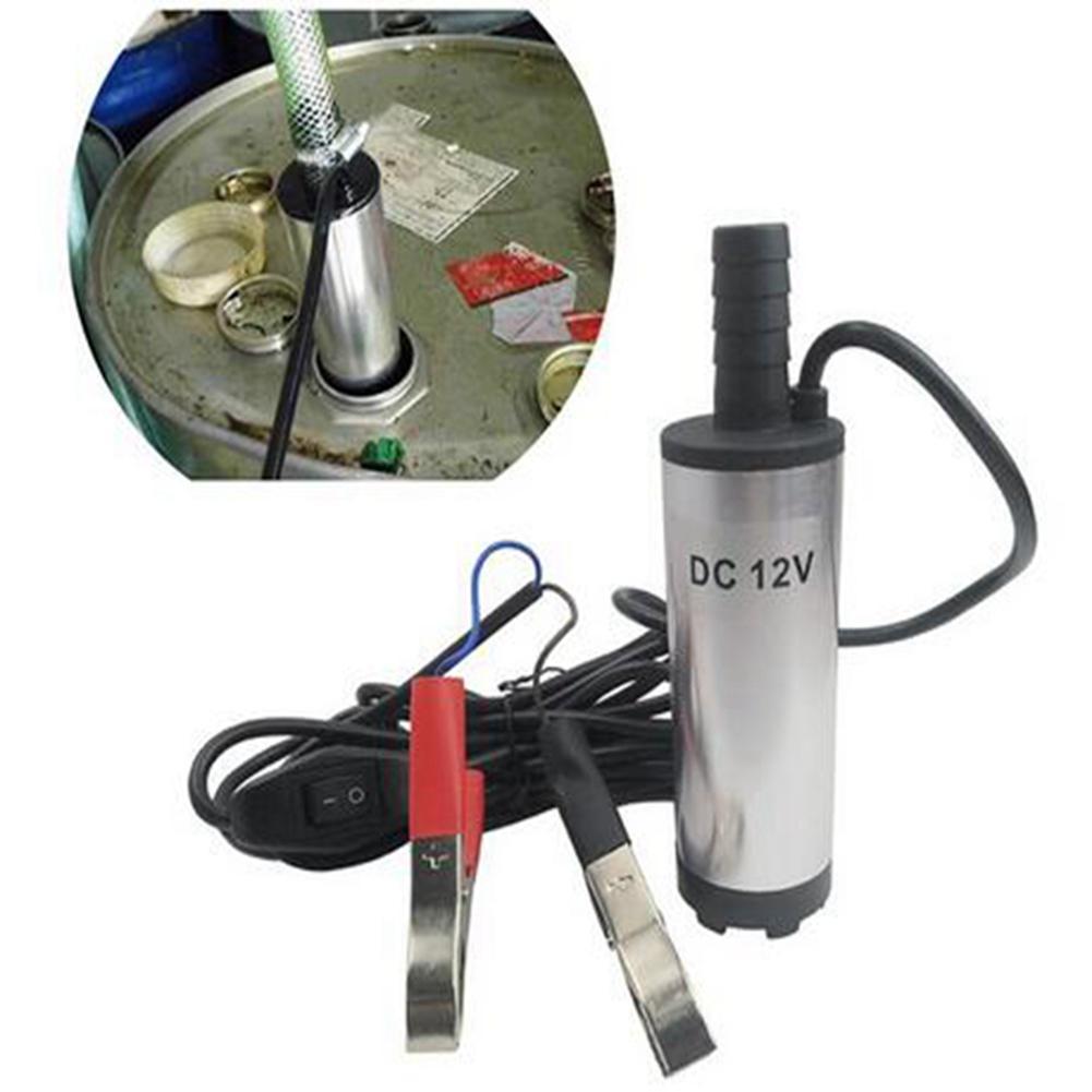 12V 3.8cm Portable Submersible Diesel Fuel Water Oil Transfer Drum Pump Mini Refueling Sub 8500r//m