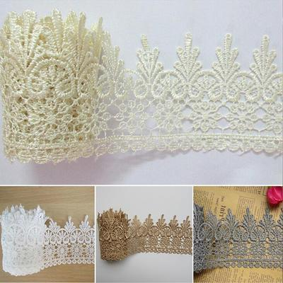 15 Yard White Vintage Cotton Knitted Floral Lace Trim Dress Sewing Craftwork