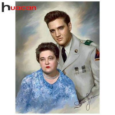 5D DIY Full Drill Diamond Painting Elvis Presley Cross Stitch Kits Wall Decors