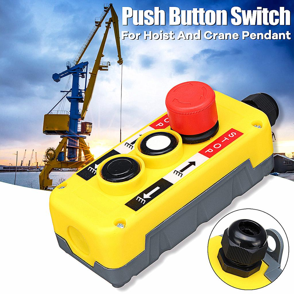 1PC New 2 Buttons Hand Remote Hoist And Crane Pendant Control Station