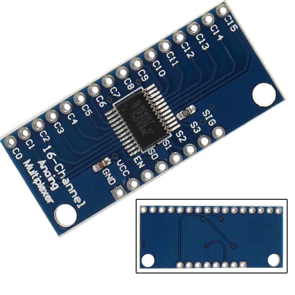 4Pcs High Speed 16CH Analog Digital Multiplexer Breakout Board Module CD74HC4067 CMOS Precise Module For Multicolor