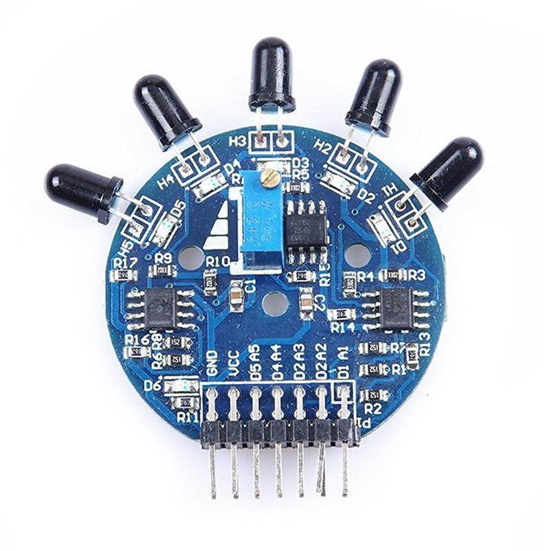 2PCS 5 vías de salida analógica digital sensor de llama extintor Robot Arduino