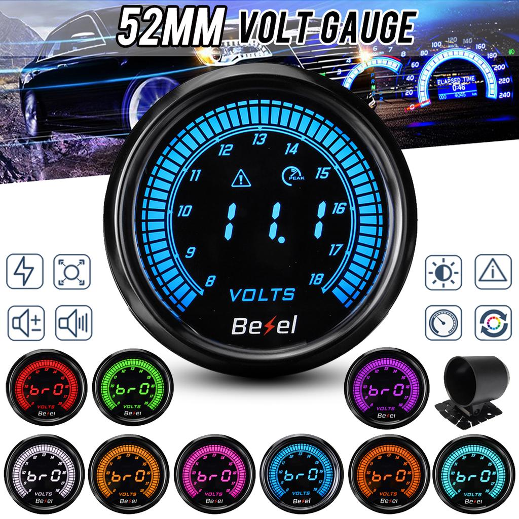 2 Inches 52mm Universal Digital LED 8-18V Car Voltage Gauge