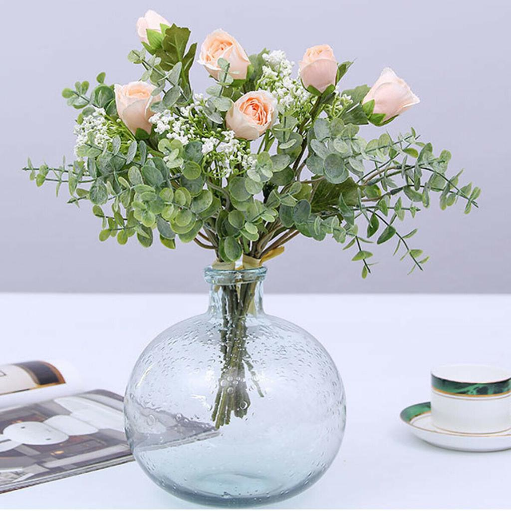 Artificial Gypsophila Eucalyptus Branches Rose Bouquet Flower Bunch Decorations Buy At A Low Prices On Joom E Commerce Platform