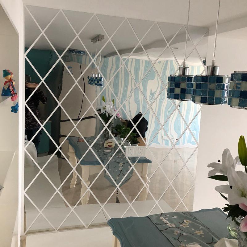 2020 New Diamond Splicing Background, Mirror Decoration Stickers