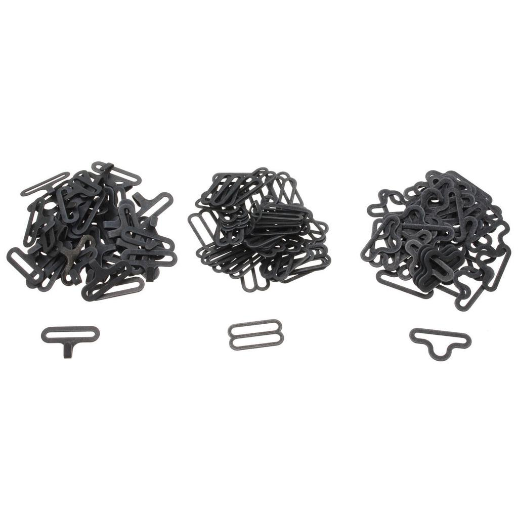 50Set//LOT Bow Tie Hardware Clip Metal Cravat Clip Hook Fastener fr Necktie Strap