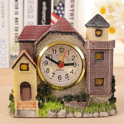 Villa Castle Alarm Clock, Ancient Roman Old House Villa Resin Crafts