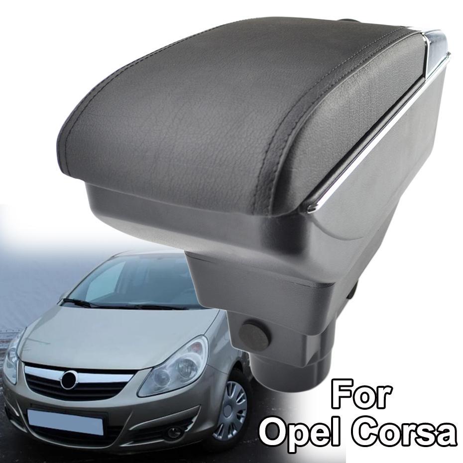 OPEL VAUXHALL CORSA D 06-14 ARMREST BLACK NEW ECO LEATHER