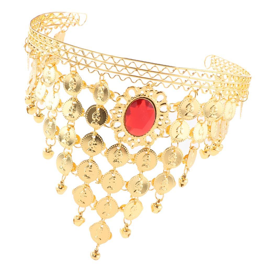 reducere mare magazin oficial pret de fabrica Monede coroana Belly Dance cu bandă de susţinere capul lant bijuterii  accesorii Party - cumpărați cu prețuri reduse din magazinul online Joom