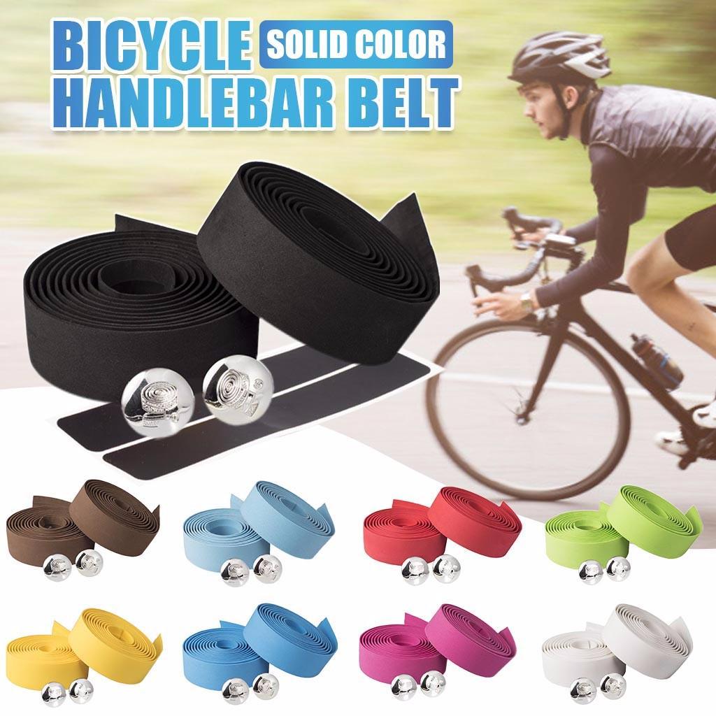 2Pcs//Pair Bicycle Bike Handlebar Wrap Vibration Bar Tape Grip Foam Road Cycling