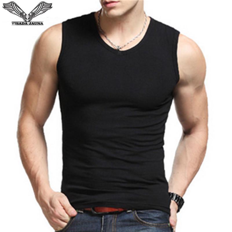 新款男士宽肩全棉背心 无袖透气健身运动弹力坎肩男背心 厂家直销