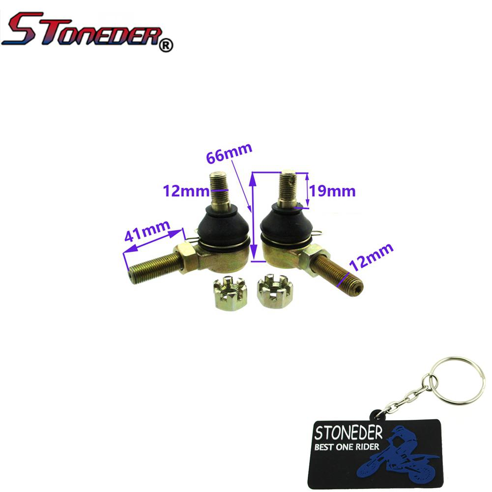 STONEDER M12 Left & Right Tie Rod Ends For Tomberlin Crossfire 150 Baja  DN150 Go Kart Ball Joint
