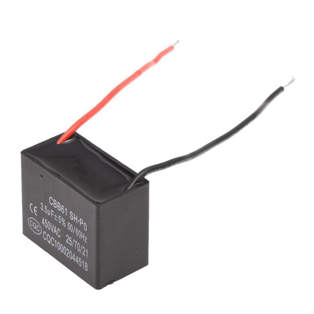 3.5uF 450VAC 50/60 Hz 2 Draht Fan Kondensator CBB61 3.5MFD – günstig ...