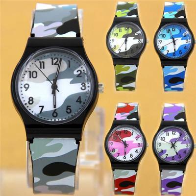 Waterproof Military Camouflage Children Watch Fashion Quartz Watches for Girl Boy Kids Child Gift