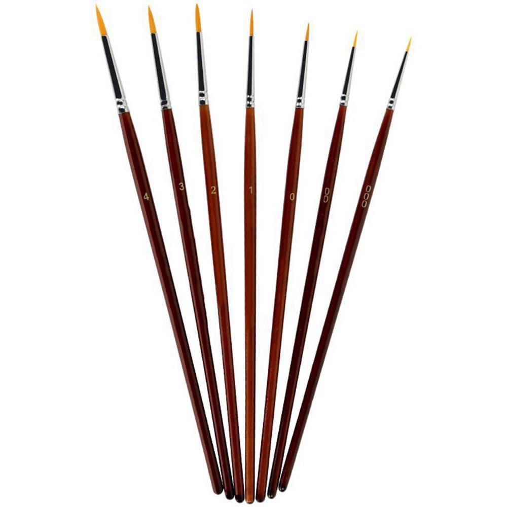 1pc Paint Brush Set Professional Sable Hair Detail Miniature Art Nail Brushes
