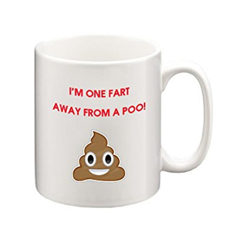 I'm One Fart Away From a Poo Funny Mug, Coffee Mug, Tea Cup, Tea Mug, Emoji  Mug-buy at a low prices on Joom e-commerce platform