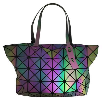 b7f522137b2 Women's Bag Geometric Rhombic Laser Bag Luminous Folding Student ...