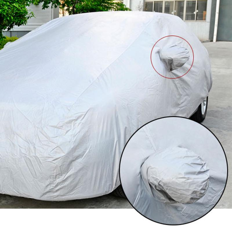 PVC Waterproof Full Car Cover Breathable Protect Indoor Outdoor Large 183 Inch