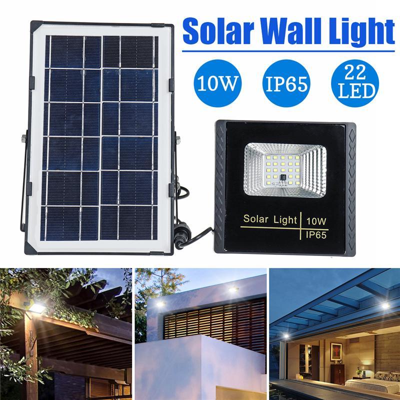 10W Solar Powered LED Light Flood Light Outdoor Garden Yard Lamp 1PC