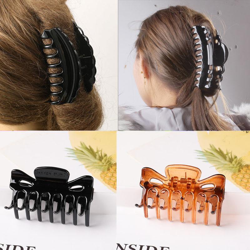 Womens Plastic Hair Claw Banana Clips Large Crystal Hair Clip Hairpin Clamp Crab