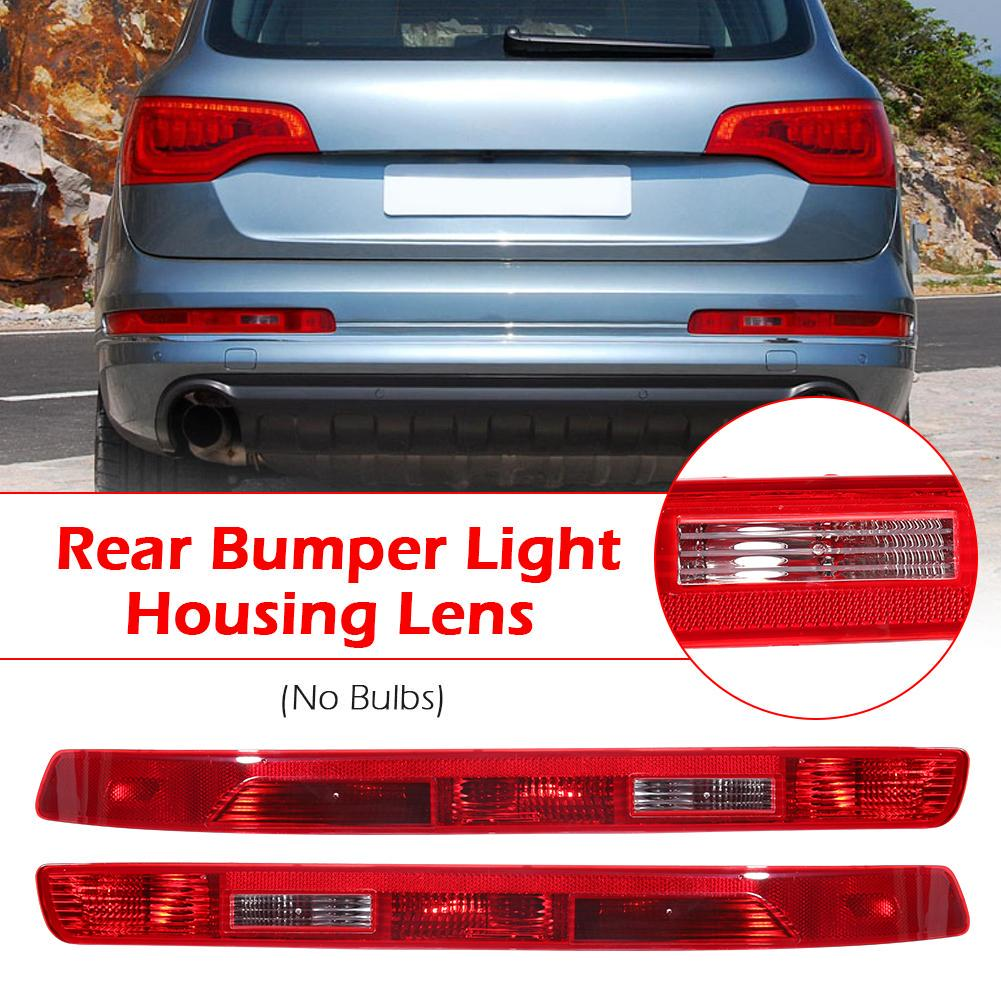 1x Left Rear Bumper Tail Light Reflector Lamp Housing Lens for Audi Q7 2007-2015