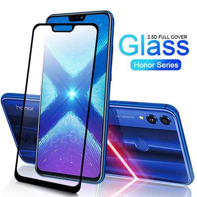 JIANGNIUS Screen Protectors 25 PCS 9H 5D Full Glue Full Screen Tempered Glass Film for Huawei Honor 10 Lite//P Smart 2019