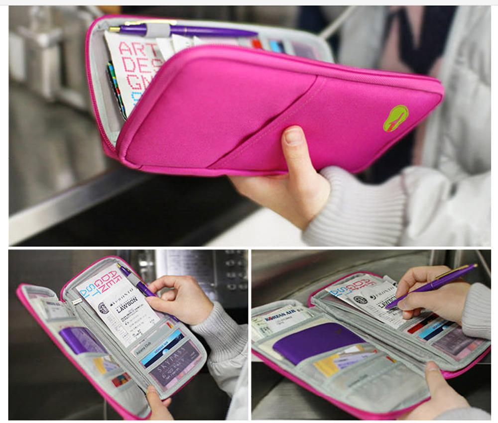 ID-Kartenhalter Handliche Reisetasche Reisepass Geldbörse Dokument Brieftasche