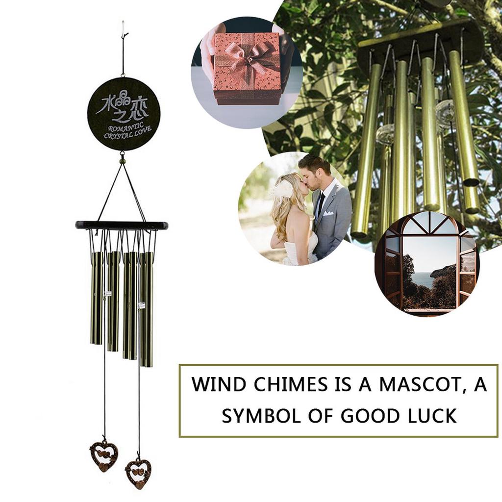 5x Chinese Bell Feng Shui Lucky Wind Chime Hanging Decoration Adornment