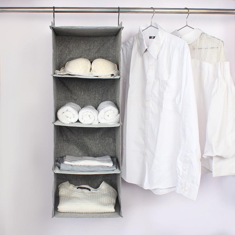 Hanging Closet Organizers 20 Shelf Fabric Closet Hanging Type Multi Layer  Storage Box
