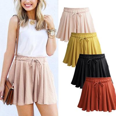01542251 Moda damska spodnie na co dzień luźne spodenki mini spódniczka wysokiej  talii spodnie