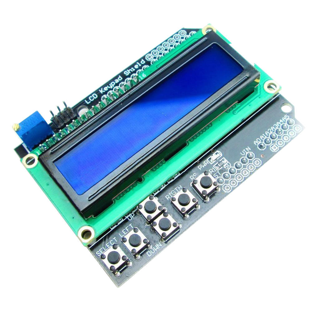New 1602 LCD Board Keypad Shield Blue Backlight For Arduino Duemilanove Robot
