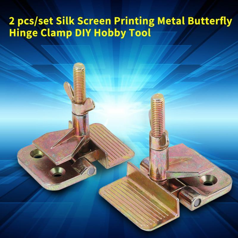 Butterfly Hinge Clamp Firmly Fastening Silk Screen Printing Metal Frame DIY Hobby Tool Hardware Accessories
