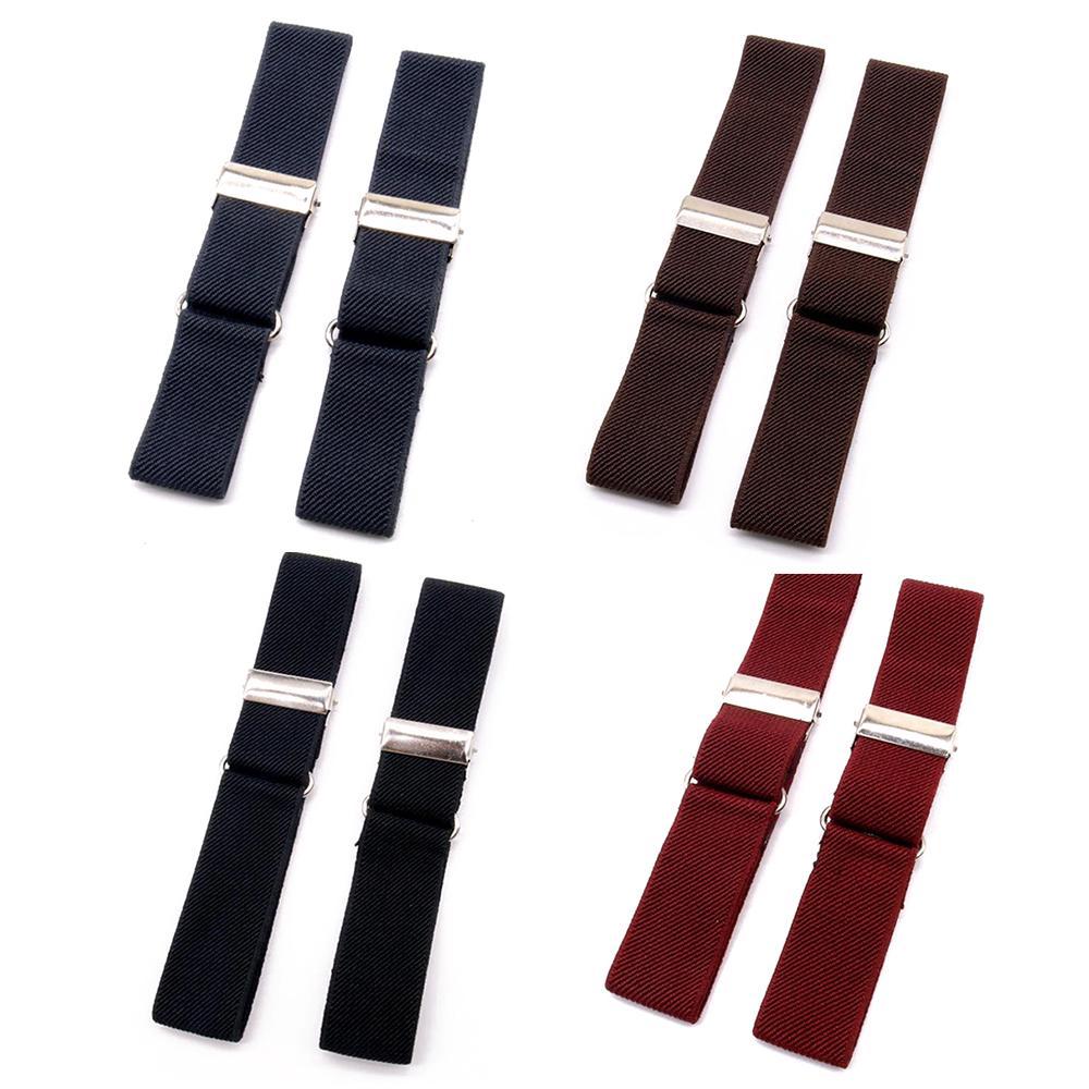 2x Anti-slip Shirt Sleeve Holders Armbands Arm Band Stretch Garter Elastic Chic