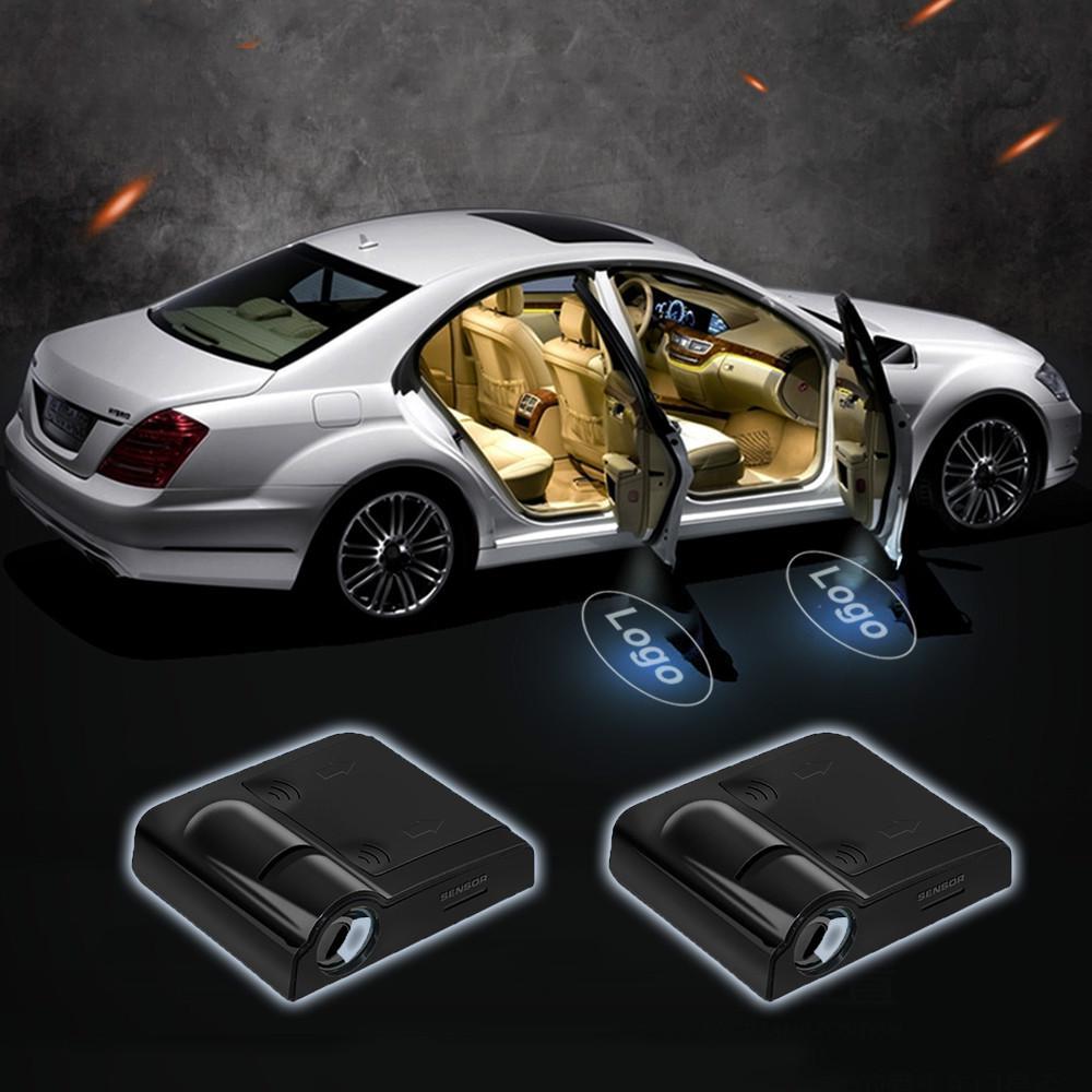 2 X Car LED Door Logo Projector Ghost Shadow Light High Definition Iluminaci/ón de la entrada de la luz del coche LED 3D Luz de la l/ámpara del logotipo del proyector de bienvenida