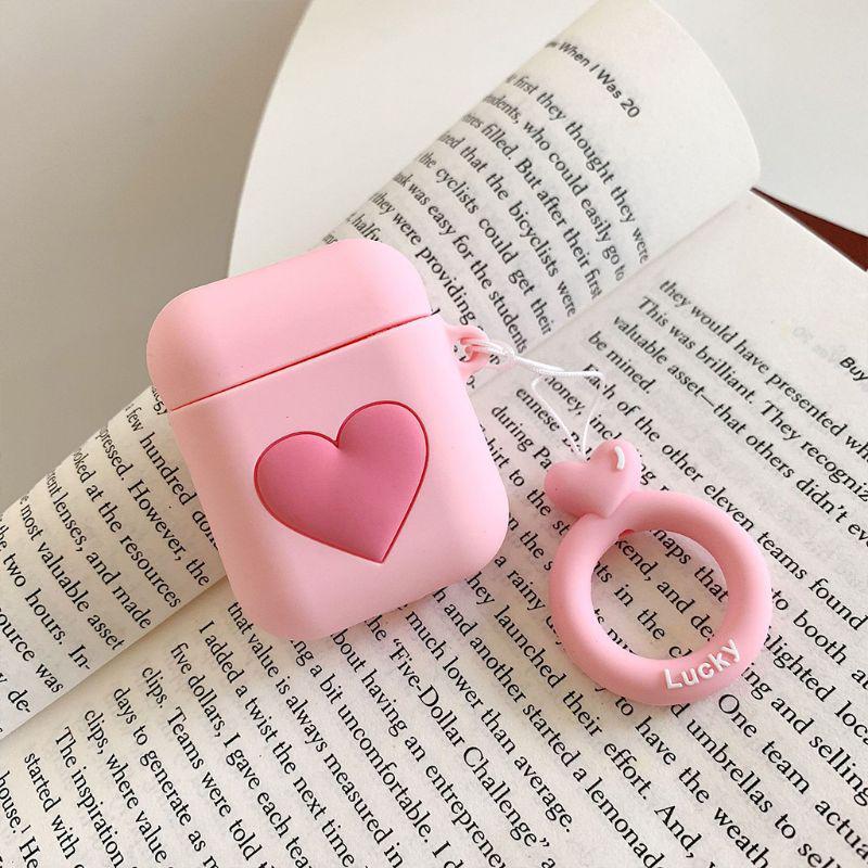 For AirPods 1 2 Bluetooth Wireless Earphone Case Heart Love