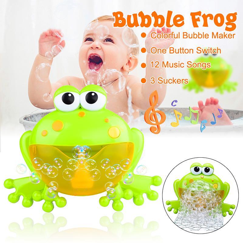 /' Baby Kids Bubble Frog Automatic Shower Machine Blower Maker Bath Music Toy