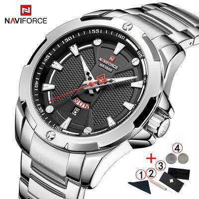 Luxury Business Watches For Men Fashion Military Quartz Wristwatch Mens Waterproof Silver Male Watch Men