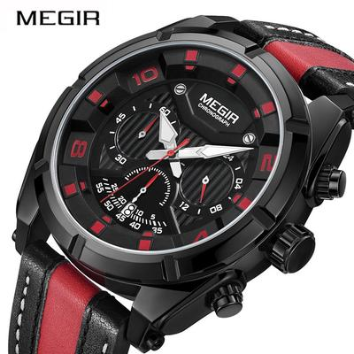 Sport Watch 2076 Men Quartz Wristwatches Clock Fashion Leather Army Military Watches Hour Time