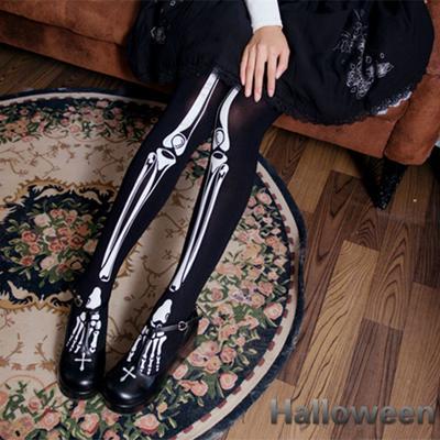 Tights Fancy Dress Stockings Hosiery orange and black spooky 65cm each