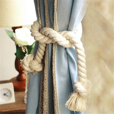 Grey Heart Wall Hanging Ornament Tieback Rope for Kids Bedroom Decoration