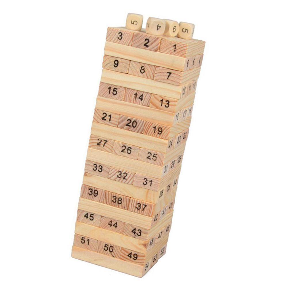 Nouveau mini tour de culbutage blocs en bois Jeu de Construction Enfants Amusant Famille JENGA board