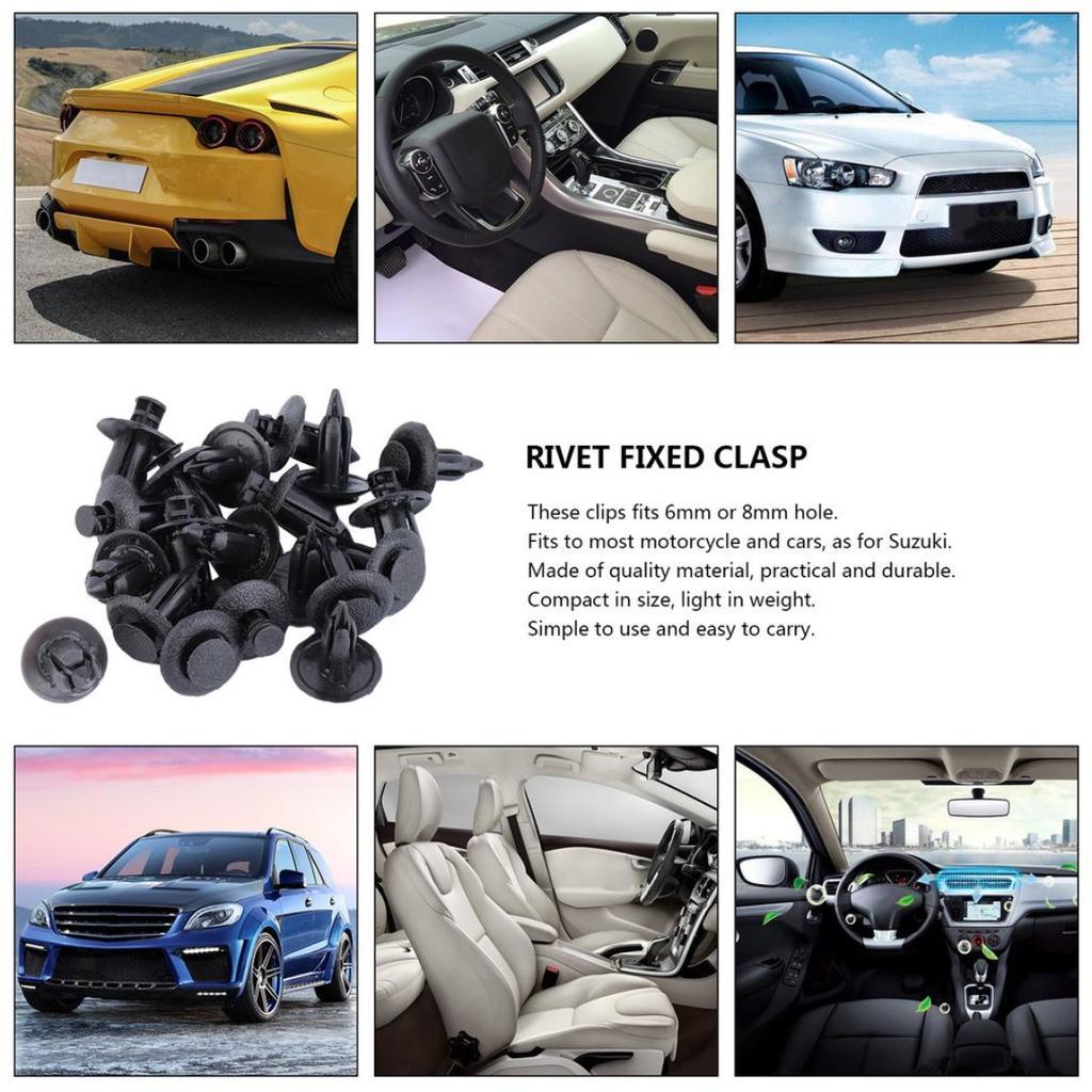20x 6mm Grey Plastic Push Fit Rivet Pin Clips Bumper Interior Trim Panel for BMW