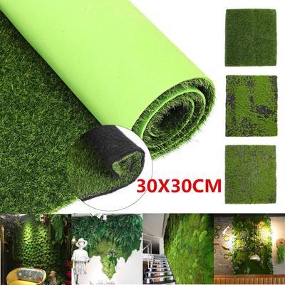 12/'/' Green Artificial Moss Mat Sheet Grass Train Craft Fairy Decor Garden Carpet
