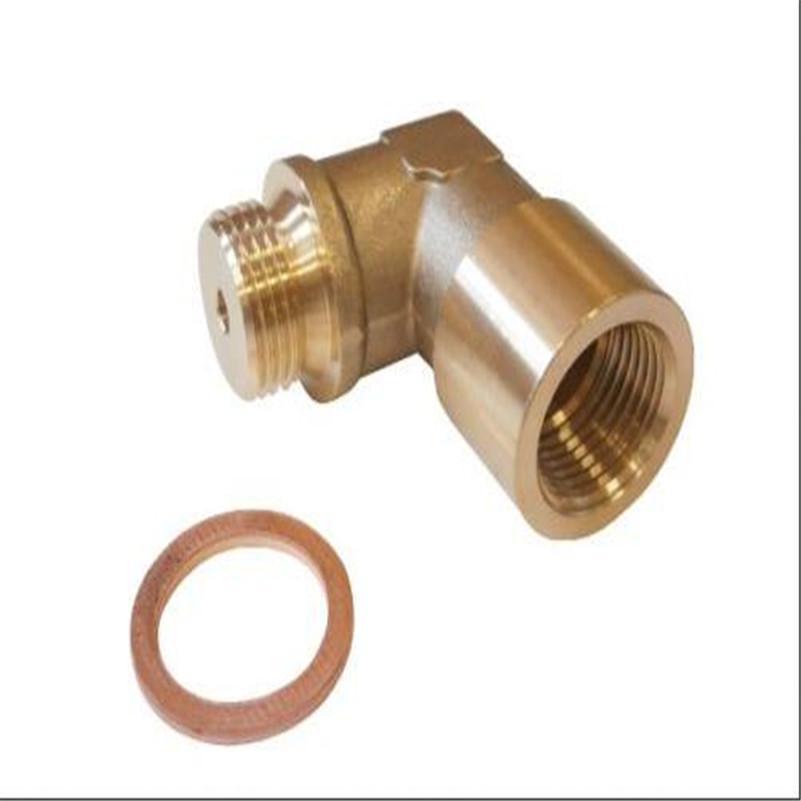 90 Degree Brass O2 Oxygen Sensor Extension Spacer Car Exhaust Bung Adapter M18x1
