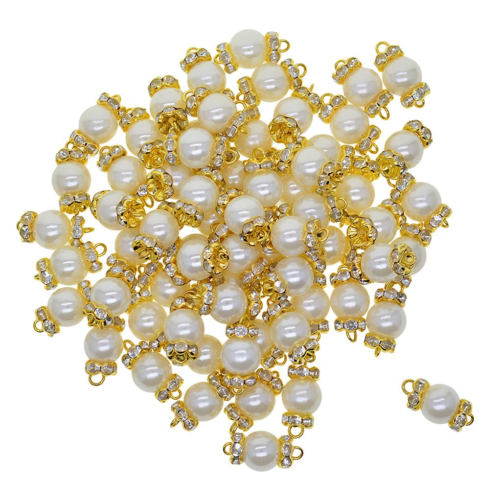 50 Pcs Gold and SilverTone Cone End Beads Caps Beads Caps Charms Pendants for Jewelry Making Supplies