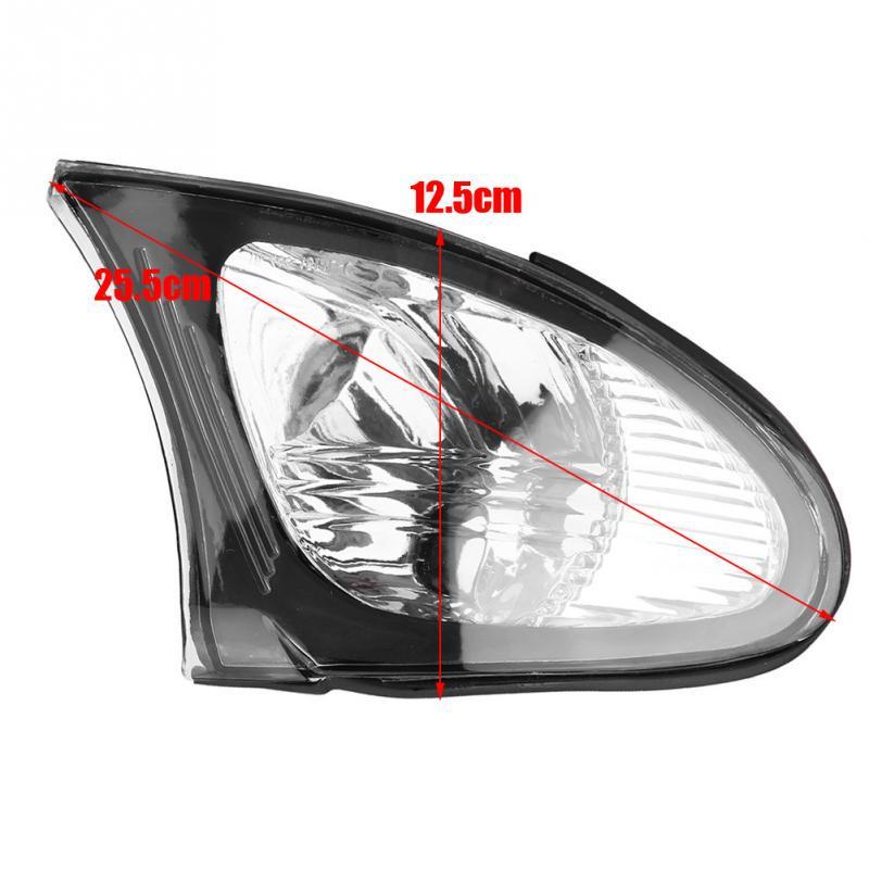 Left /& Right Corner Light Covers Corner Light Lens Turn Signal Light Cover Clear Lens for E46 3-Series 4DR 2002-2005