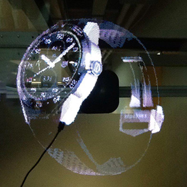 W Ultra Przenośny odtwarzacz hologramów 3D Holographic Dispaly Fan QB83